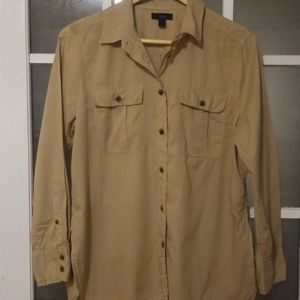 J Crew button  down long sleeve shirt.
